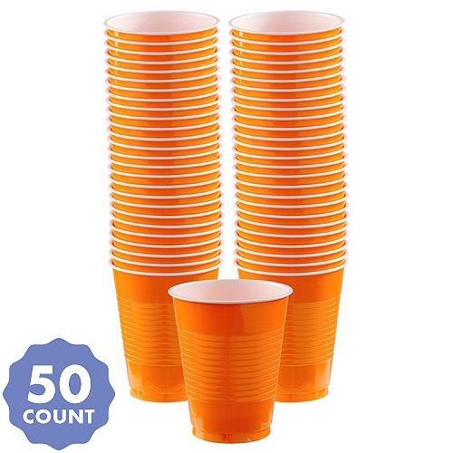 Orange Plastic Cups, 16oz, 50ct