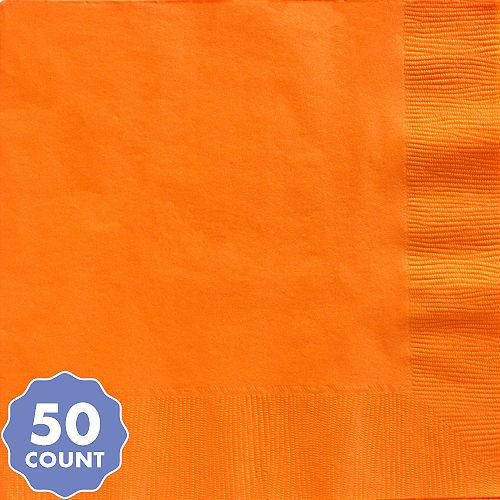 Big Party Pack Orange Dinner Napkins 50ct