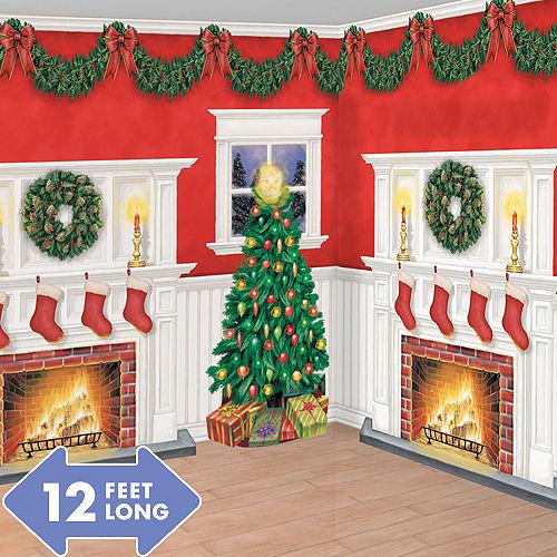 Christmas Scene Setters Backdrops Room Rolls Party City