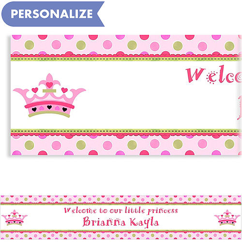 custom little princess baby shower banner 6ft