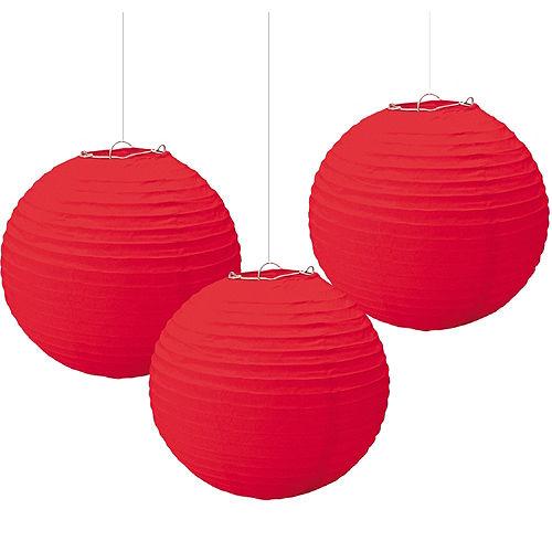 Red Paper Lanterns 3ct