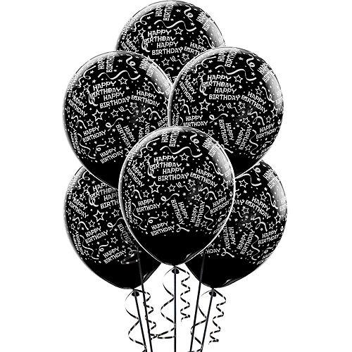 Black Birthday Balloons 6ct