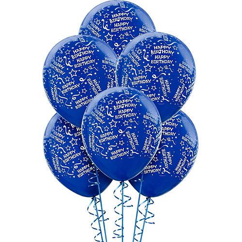 Royal Blue Birthday Balloons 6ct
