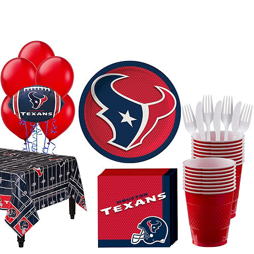 Super Houston Texans Party Kit For 18 Guests