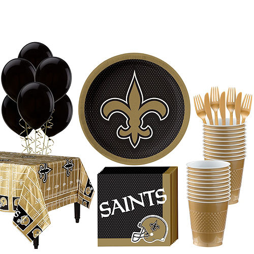 Super NFL New Orleans Saints Party Kit For 18 Guests