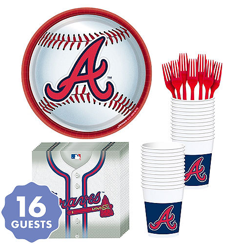 Atlanta Braves Party Kit for 18 Guests