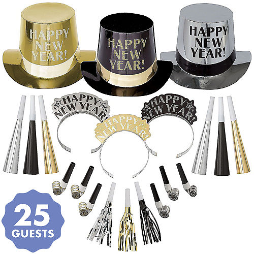kit for 25 get the party started new years party kit