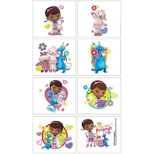 Doc McStuffins Tattoos 1 Sheet