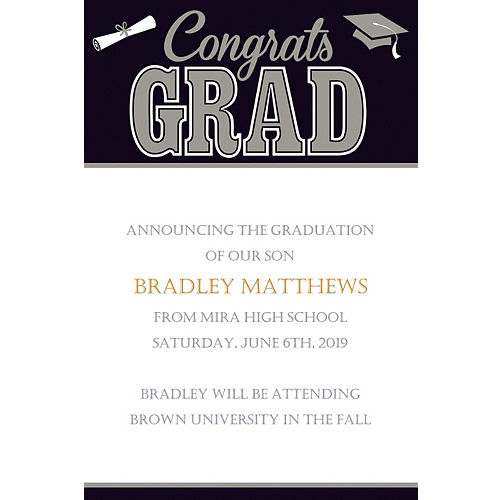 high school college graduation announcements graduation