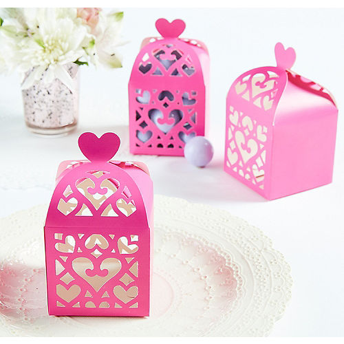 30e9f698c619 Bright Pink Lantern Favor Boxes