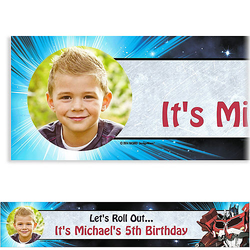 Construction Birthday Invitations Walmart Also Custom Transformers Photo Banner 6ft