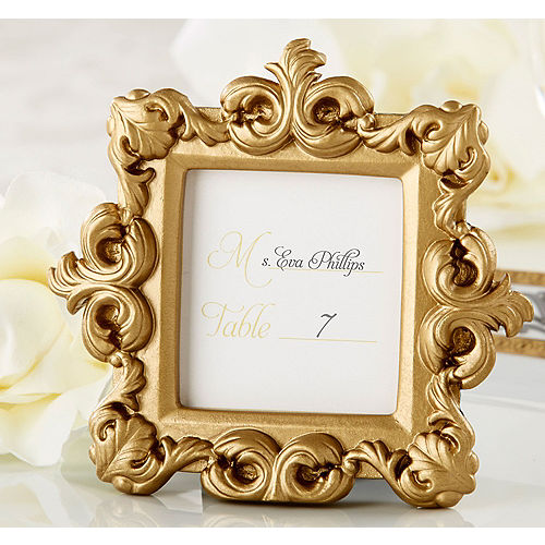 gold baroque photo frame place card holder - Wedding Place Cards