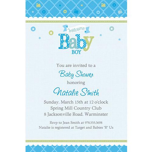 Custom Baby Shower Invitations For Boys Party City