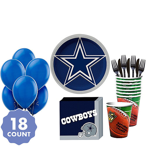 566482a32 Super Dallas Cowboys Party Kit for 18 Guests