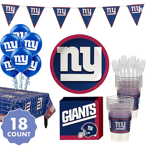5df3fdfaff4 Super New York Giants Party Kit for 18 Guests