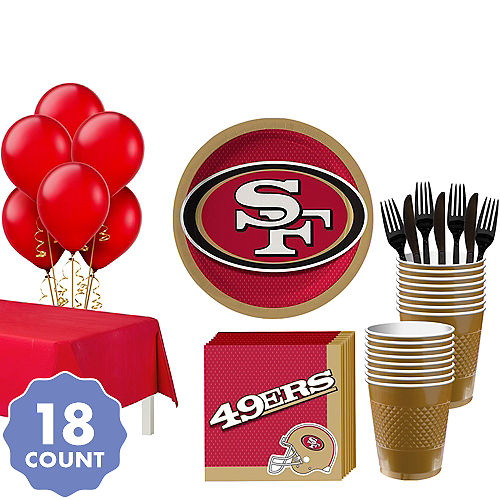 Super San Francisco 49ers Party Kit For 18 Guests