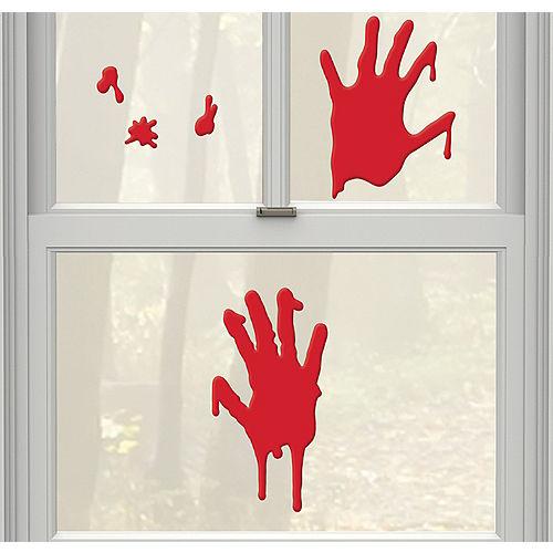 Bloody Hands Gel Cling Decals 5ct - Asylum
