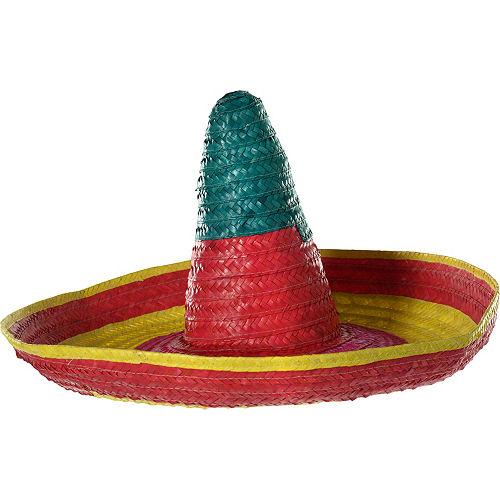 multicolor sombrero 27in x 11 1 2in party city