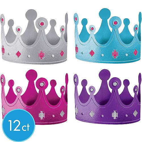 645e07ed388 Purple   Teal Pastel Crowns 12ct