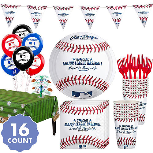Super Rawlings Baseball Party Kit For 16 Guests