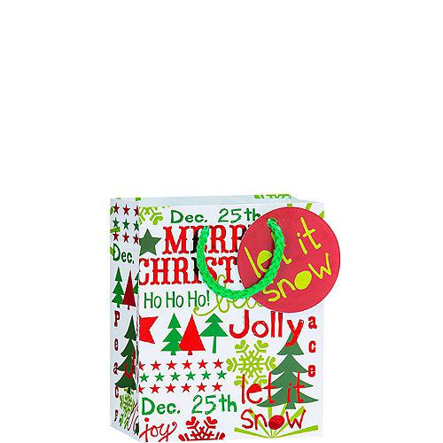 07b8c2351 Metallic Let it Snow Christmas Gift Bag