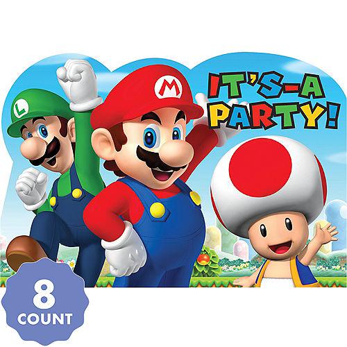Super Mario Invitations 8ct