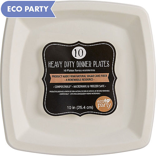 Eco Friendly White Tableware | Party City