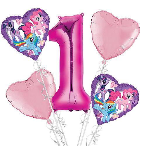 My Little Pony 1st Birthday Balloon Bouquet 5pc
