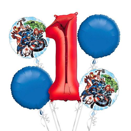 Avengers 1st Birthday Balloon Bouquet 5pc