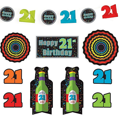 Brilliant 21st Birthday Room Decorating Kit 10pc