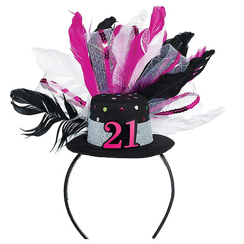 21st Birthday Mini Top Hat Headband