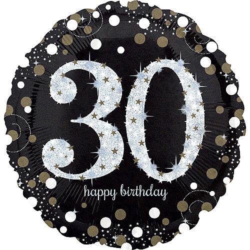 30th Birthday Balloon 18in Sparkling Celebration
