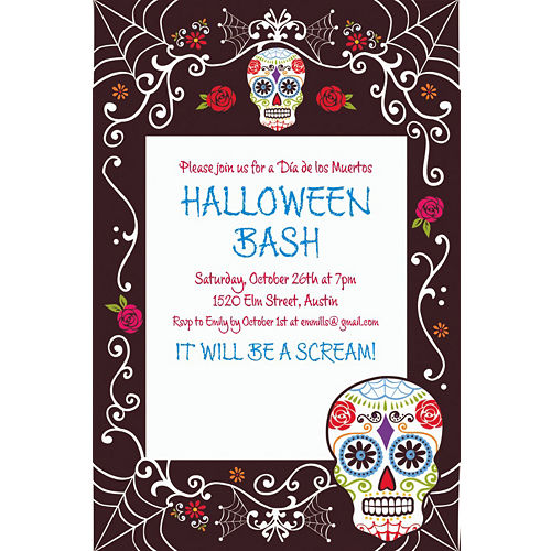 custom day of the dead invitation