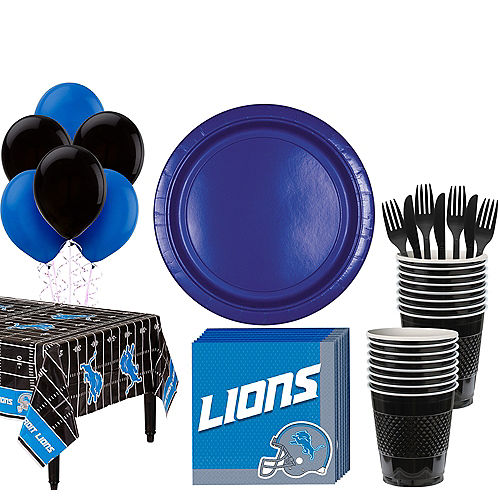 Super Detroit Lions Party Kit For 18 Guests
