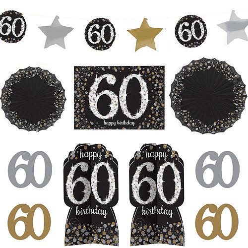 60th Birthday Room Decorating Kit 10pc