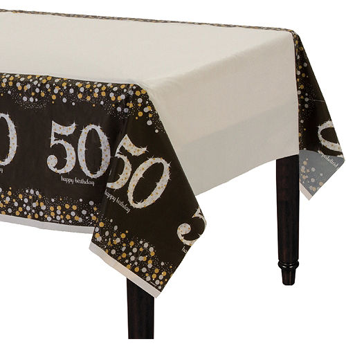 50th Birthday Table Cover
