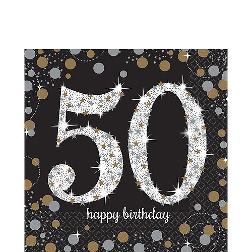 50th Birthday Lunch Napkins 16ct