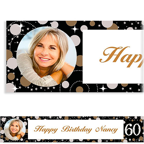 Custom Sparkling Celebration 60 Photo Banner