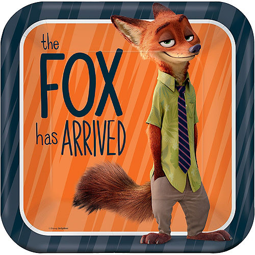 Zootopia Lunch Plates 8ct