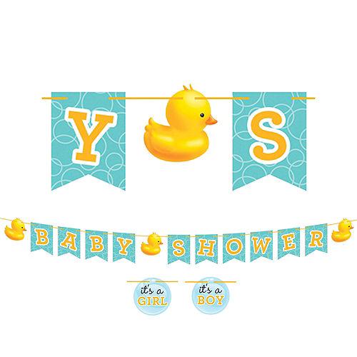 Rubber Ducky Baby Shower Letter Banner