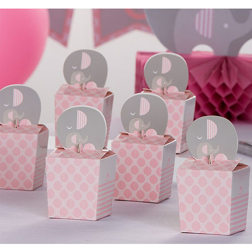 pink baby elephant treat boxes 8ct