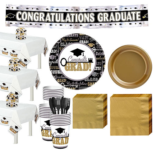 Black Gold Silver Graduation Party Supplies Party City