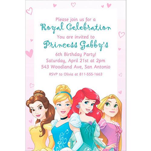 Custom Disney Princess Invitation