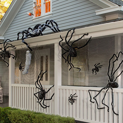 spiders webs halloween decorating kit