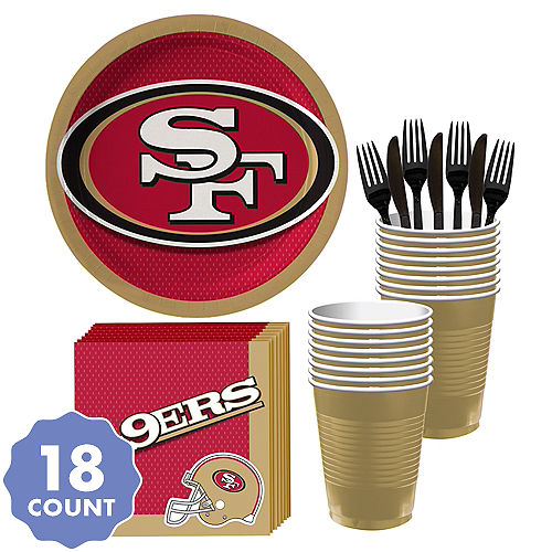 San Francisco 49ers Party Kit For 18 Guests