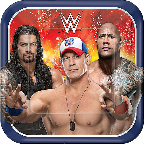 Wwe party supplies wwe birthday party city wwe lunch plates 8ct filmwisefo