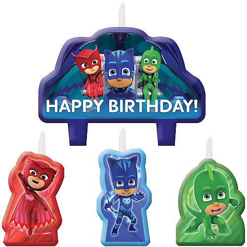 PJ Masks Birthday Candles 4ct