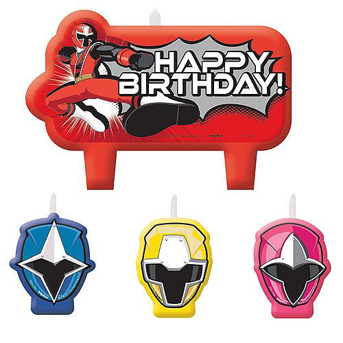 Power Rangers Ninja Steel Birthday Candles 4ct