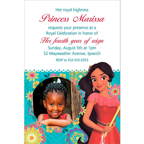 Custom Elena Of Avalor Photo Invitation