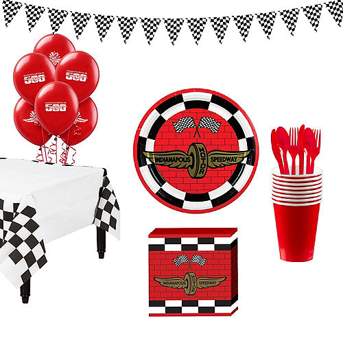 Indy 500 Super Tableware Kit For 16 Guests
